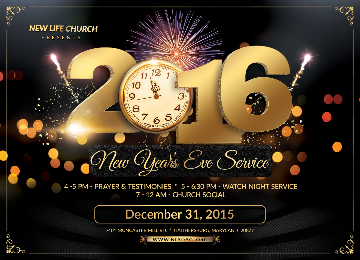New Year\'s Eve Celebration – New Life Church Web Site